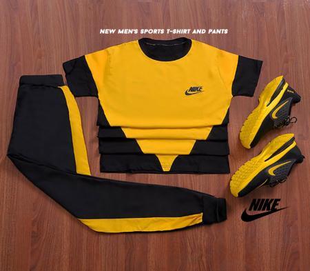ست تیشرت وشلوار Nike مدل Ander (زرد)